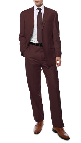 Premium FE28001 Burgundy Regular Fit Suit