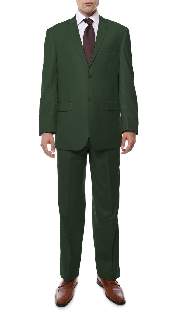 Premium FE28001 Grass Green Regular Fit Suit - FHYINC best men