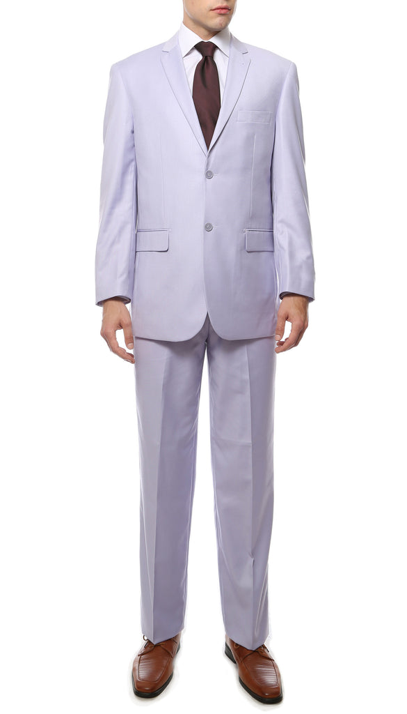 Premium FE28001 Lilac Regular Fit Suit - FHYINC best men
