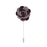 Florance 23 Grey Burgundy Lapel Pin - FHYINC best men's suits, tuxedos, formal men's wear wholesale