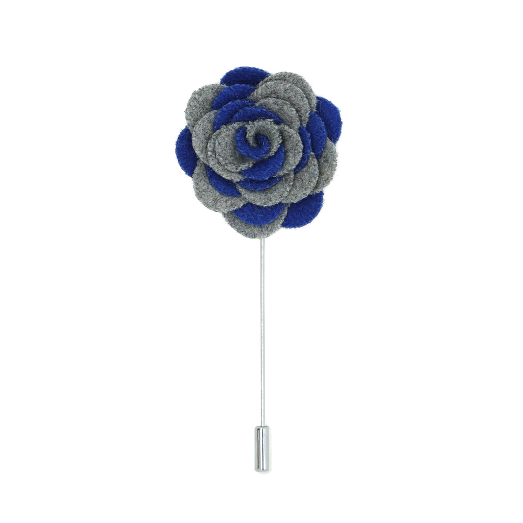 Florance 24 Grey Blue Lapel Pin - FHYINC best men