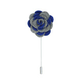Florance 24 Grey Blue Lapel Pin - FHYINC best men's suits, tuxedos, formal men's wear wholesale