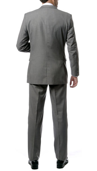 Premium FNL22R Mens 2 Button Regular Fit Grey Suit