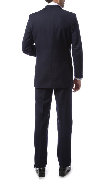 Premium FNL22R Mens 2 Button Regular Fit Navy Blue Suit