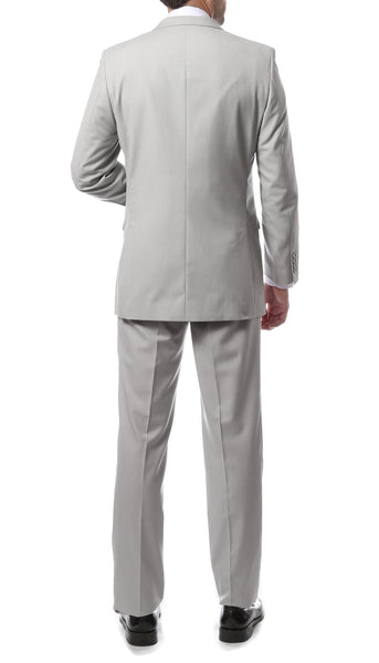 Premium FNL22R Mens 2 Button Regular Fit Light Grey Suit