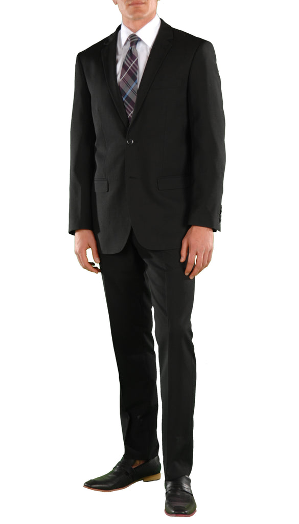 Black Regular Fit Suit - 2PC - FORD - FHYINC best men