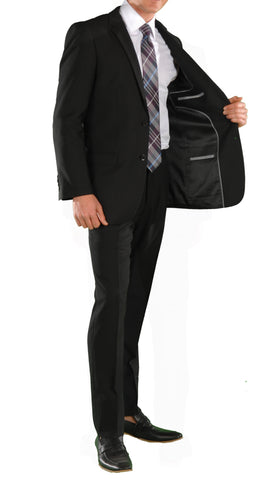 Black Slim Fit Suit - 2PC - HART