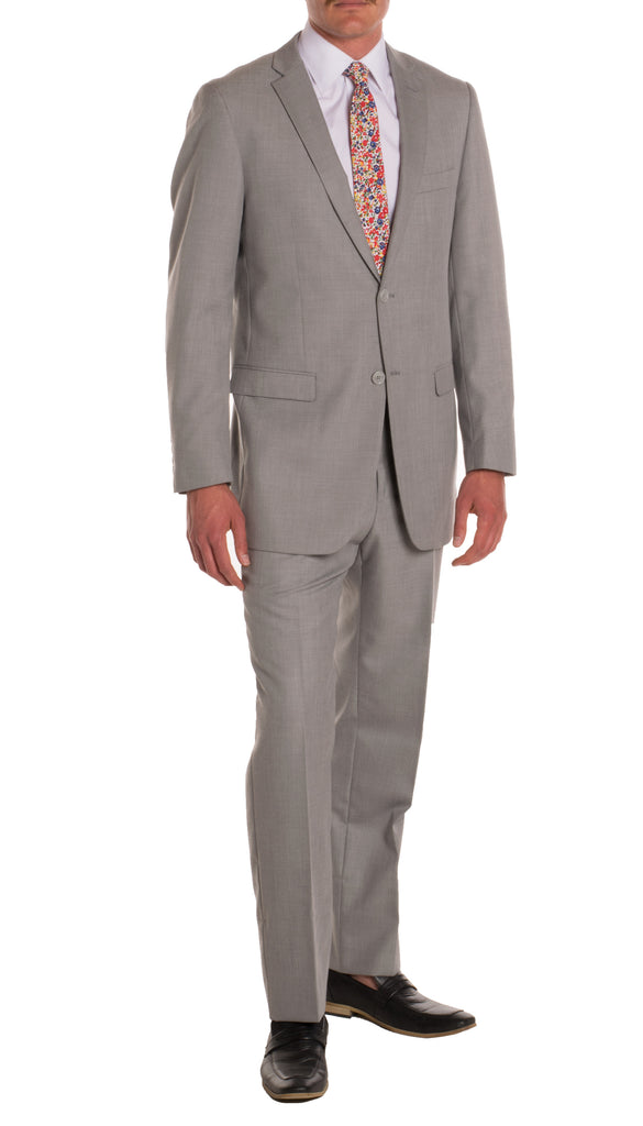 Light Grey Regular Fit Suit - 2PC - FORD - FHYINC best men