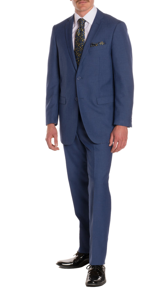 New Blue Regular Fit Suit - 2PC - FORD - FHYINC best men