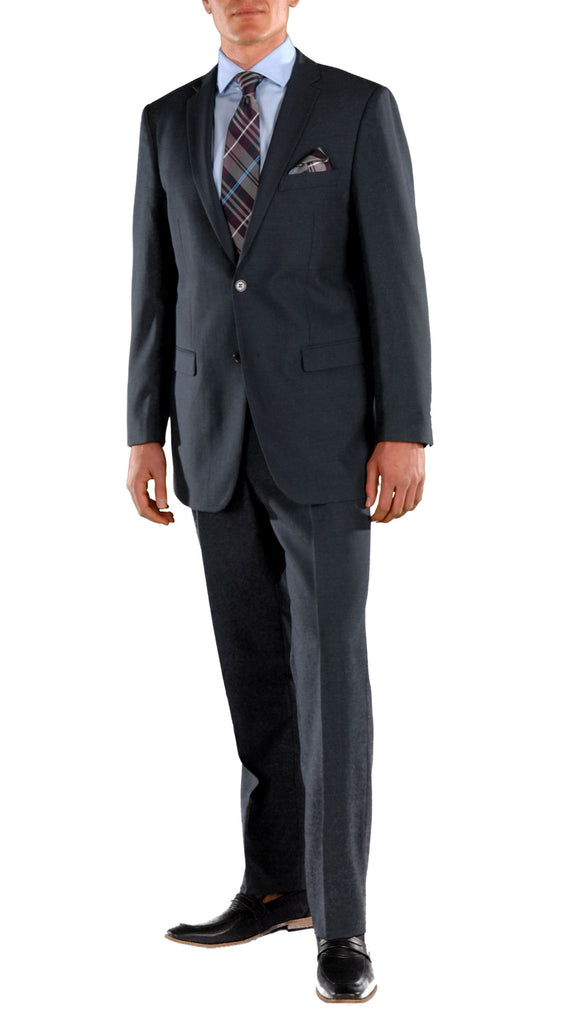 Navy Blue Regular Fit Suit - 2PC - FORD - FHYINC best men