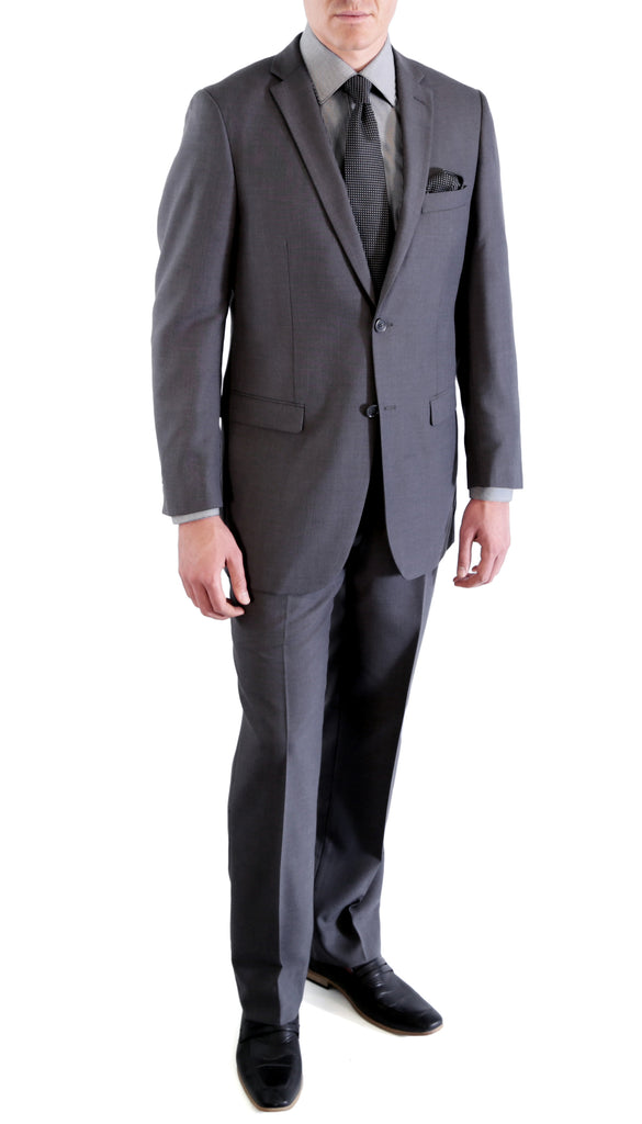 Charcoal Regular Fit Suit - 2PC - FORD - FHYINC best men
