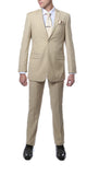 FS22 Mens Tan Regular Fit 2pc Suit - FHYINC best men's suits, tuxedos, formal men's wear wholesale