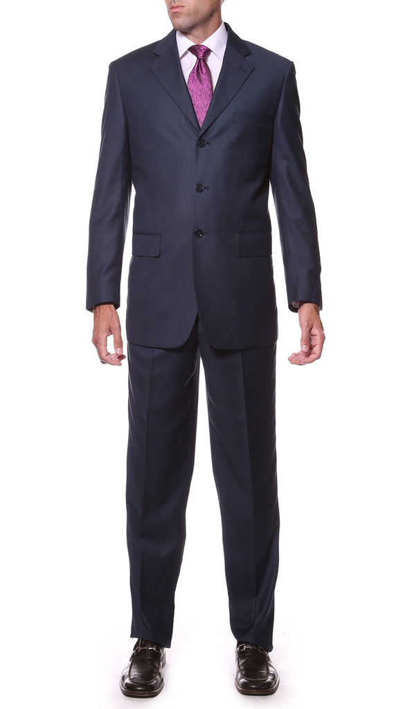 FS23 Navy Regular Fit 2pc 3 Button Suit - FHYINC best men