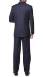 FS23 Navy Regular Fit 2pc 3 Button Suit - FHYINC best men's suits, tuxedos, formal men's wear wholesale