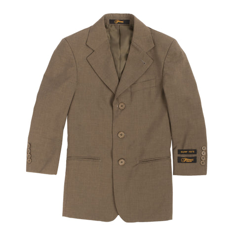 Boys Premium Brown Green 2pc Suit
