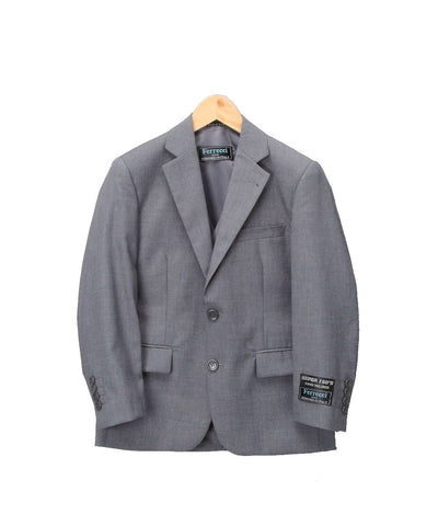 Boys Premium Medium Grey 2pc Suit