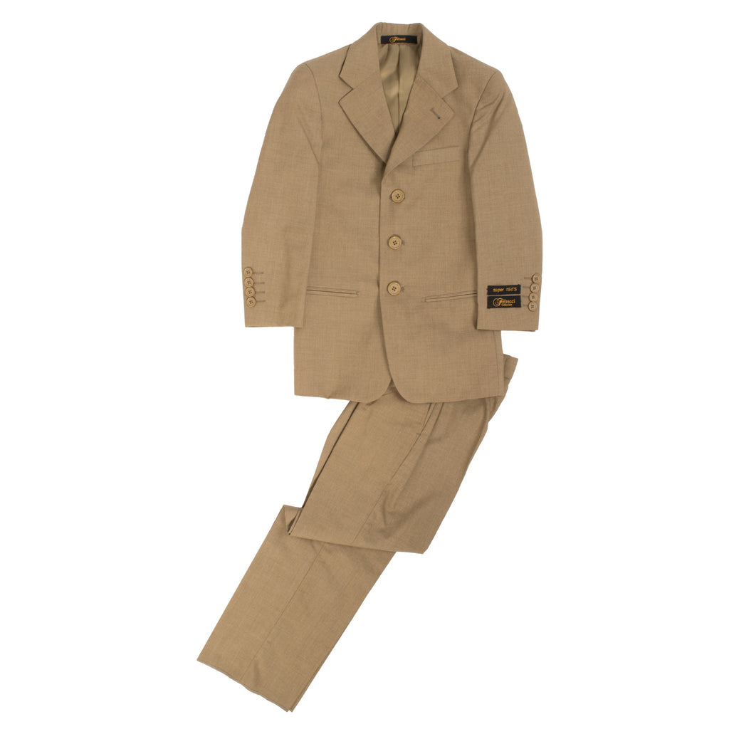 Boys Premium Sand 2pc Suit - FHYINC best men's suits, tuxedos, formal men's wear wholesale