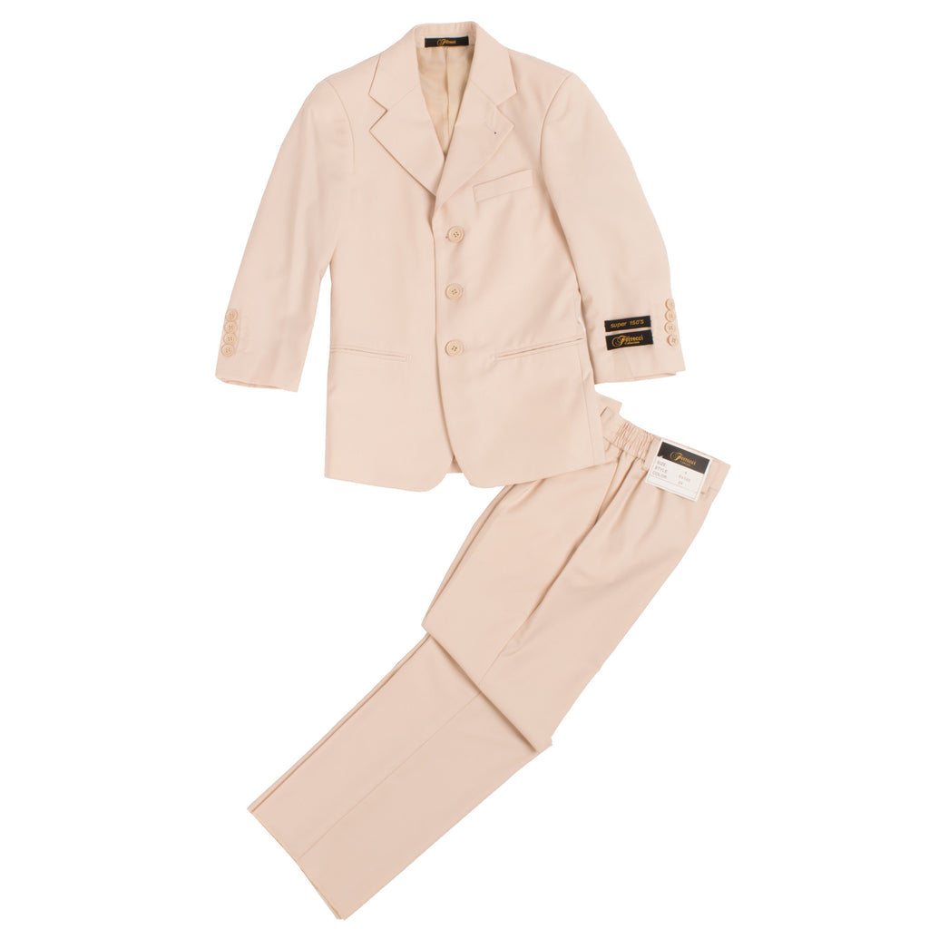 Boys Premium Tan 2pc Suit - FHYINC best men