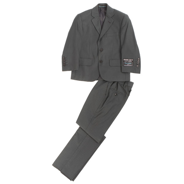 Boys Premium Grey Green Striped 2pc Suit - FHYINC best men's suits, tuxedos, formal men's wear wholesale