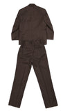 Boys Premium FSK32 Brown Pinstripe 3pc Suit - FHYINC best men's suits, tuxedos, formal men's wear wholesale