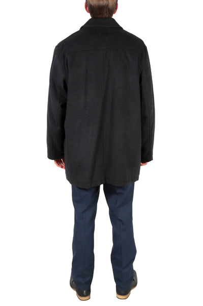 'George' Men's Wool Charcoal Top Coat - FHYINC best men's suits, tuxedos, formal men's wear wholesale
