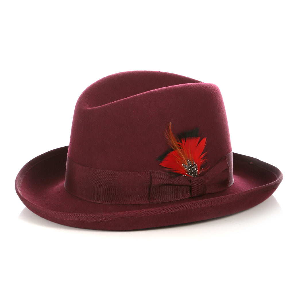 Premium Burgundy Godfather Hat - FHYINC best men