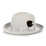 Premium Light Grey Godfather Hat - FHYINC best men's suits, tuxedos, formal men's wear wholesale