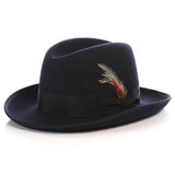 Premium Navy Godfather Hat - FHYINC best men's suits, tuxedos, formal men's wear wholesale