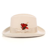 Premium Off White Godfather Hat - FHYINC best men's suits, tuxedos, formal men's wear wholesale