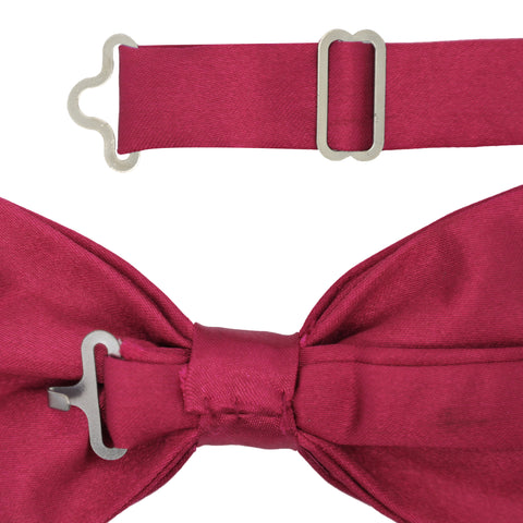 Gia Burgundy Satine Adjustable Bowtie