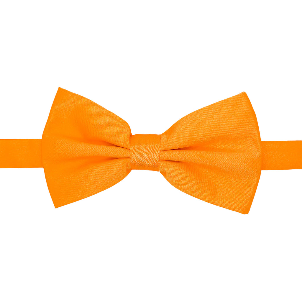 Gia Orange Satine Adjustable Bowtie - FHYINC best men