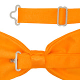 Gia Orange Satine Adjustable Bowtie - FHYINC best men's suits, tuxedos, formal men's wear wholesale