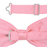 Gia Pink Satine Adjustable Bowtie - FHYINC best men's suits, tuxedos, formal men's wear wholesale