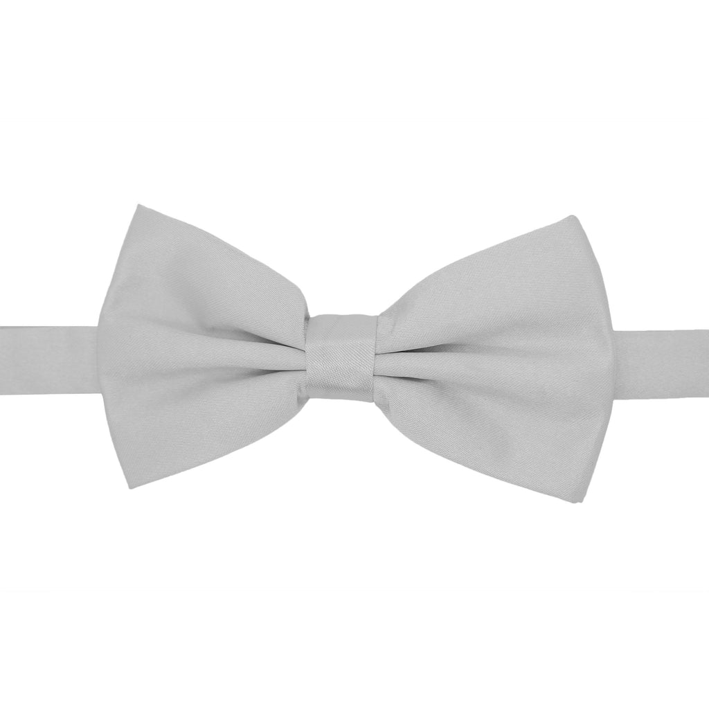 Gia Silver Satine Adjustable Bowtie - FHYINC best men