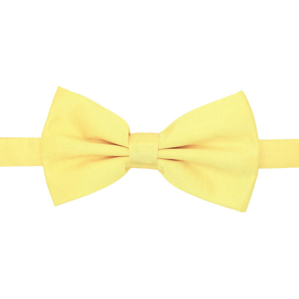 Gia Yellow Satine Adjustable Bowtie - FHYINC best men