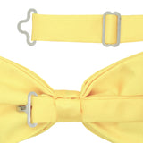 Gia Yellow Satine Adjustable Bowtie - FHYINC best men's suits, tuxedos, formal men's wear wholesale