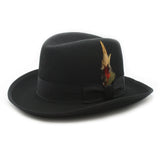 Premium Black Godfather Hat - FHYINC best men's suits, tuxedos, formal men's wear wholesale