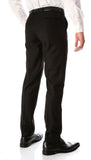 Ferrecci Men's Halo Black Slim Fit Flat-Front Dress Pants - FHYINC best men's suits, tuxedos, formal men's wear wholesale