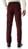 Ferrecci Men's Halo Burgundy Slim Fit Flat-Front Dress Pants - FHYINC best men's suits, tuxedos, formal men's wear wholesale