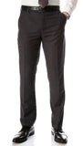 Ferrecci Men's Halo Charcoal Slim Fit Flat-Front Dress Pants - FHYINC best men's suits, tuxedos, formal men's wear wholesale