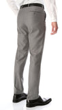 Ferrecci Men's Halo Grey Slim Fit Flat-Front Dress Pants - FHYINC best men's suits, tuxedos, formal men's wear wholesale