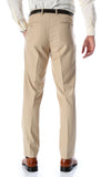 Ferrecci Men's Halo Tan Slim Fit Flat-Front Dress Pants - FHYINC best men's suits, tuxedos, formal men's wear wholesale
