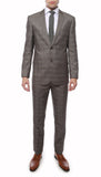 Hamilton Slim Fit Grey Check Suit - FHYINC best men's suits, tuxedos, formal men's wear wholesale