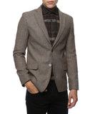 The Hardy Brown Herringbone Super Slim Fit Mens Blazer - FHYINC best men's suits, tuxedos, formal men's wear wholesale