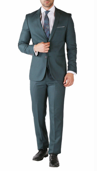 Hart 3pc Slim Fit Teal Suit