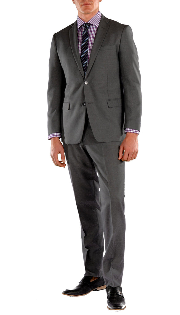 Charcoal Slim Fit Suit - 2PC - HART - FHYINC best men