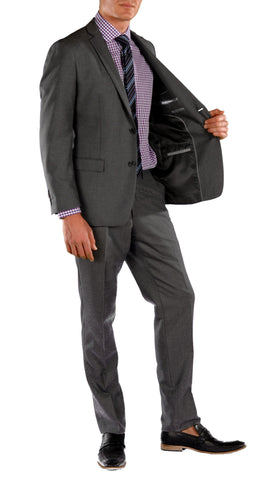 Charcoal Slim Fit Suit - 2PC - HART