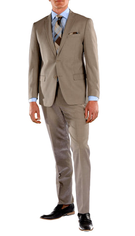 Brown Slim Fit Suit - 2PC - HART