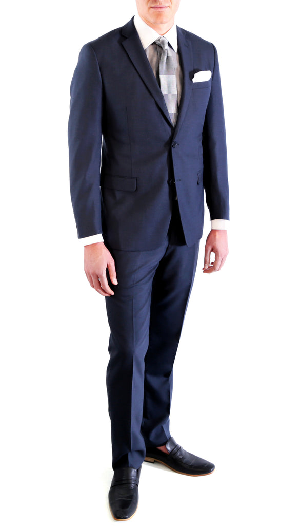 Navy Blue Slim Fit Suit - 2PC - HART - FHYINC best men