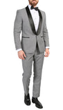 Men's Hilton Skinny Slim Fit Houndstooth Shawl Lapel 2pc Tuxedo - FHYINC best men's suits, tuxedos, formal men's wear wholesale